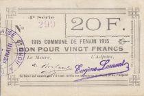 Francia 20 Francs Fenain City - 1915