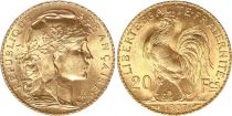 Francia 20 Francs Marian - Rooster 1907 - Gold