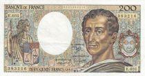 Francia 200 Francs Montesquieu 1985 - Serial E.031