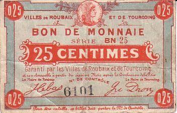 Francia 25 cent. Roubaix-Tourcoing