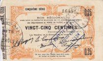Francia 25 Centimes Fourmies City - 1915