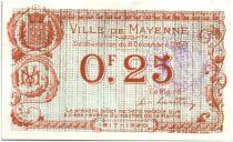 Francia 25 Centimes Mayenne City - 1917
