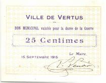 Francia 25 Centimes Vertus City - 1915