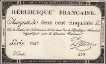 Francia 250 Livres - 7 Vendémiaire - Year second of French Republic - Sign. Dreux