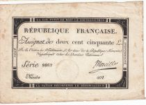 Francia 250 Livres 7 Vendemiaire An II - 28.9.1793 - Sign. Marcilly