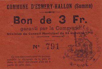 Francia 3 F Esmery-Hallon n° 791