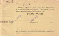 Francia 4 F Beaucourt Annulé