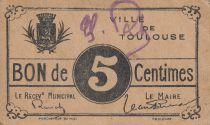 Francia 5 cent. Toulouse City