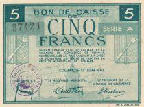 Francia 5 Francs 1940 - Bon de caisse, City of Colmar, Serial A