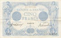 Francia 5 Francs Blue - 30-09-1915 Serial G.8052