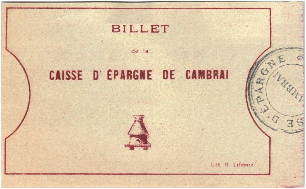 Francia 5 Francs Cambrai Caisse d´Epargne