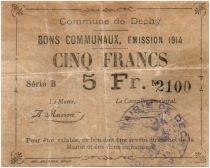 Francia 5 Francs Dechy City - 1914