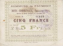 Francia 5 Francs Faumont City - 1914