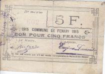 Francia 5 Francs Fenain City - 1917