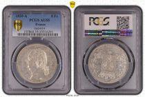 Francia 5 Francs Louis XVIII Buste nu - 1820 A - PCGS AU 55