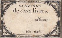 Francia 5 Libras 10 Brumaire Año II (31.10.1793) - Firma Momoro