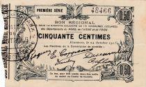 Francia 50 cent. Fourmies - First serial -  08/05/1916