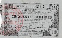 Francia 50 cent. Fourmies - Serial 47 -  08/05/1916