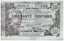 Francia 50 cent. Laon Régional - 1916