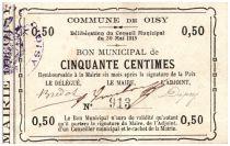 Francia 50 cent. Oisy City - 1915