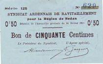 Francia 50 cent. Sedan Synd.de ravitaillement