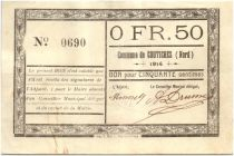 Francia 50 Centimes Coutiches City - 1914