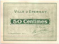 Francia 50 Centimes Épernay 2 cachets