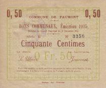 Francia 50 Centimes Faumont City - 1915