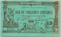 Francia 50 Centimes Mouy City - 1915