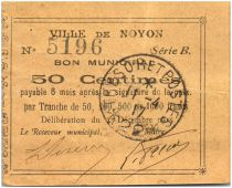 Francia 50 Centimes Noyon City - 1915