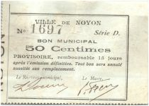 Francia 50 Centimes Noyon City