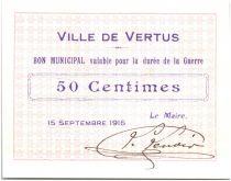 Francia 50 Centimes Vertus City - 1915
