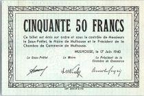 Francia 50 F , Mulhouse Chambre de Commerce, Série C