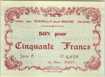 Francia 50 Francs , Romilly-sur-Seine Série A
