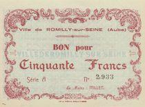 Francia 50 Francs 1940, City de Romilly-sur-Seine