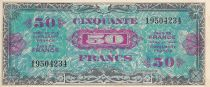 Francia 50 Francs Allied Military Currency - 1944 Without Serial 19504234