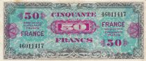 Francia 50 Francs Allied Military Currency - Flag - 1944