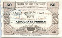 Francia 50 Francs Avesnes Et Solesmes Briastre
