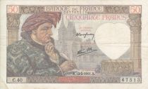 Francia 50 Francs Jacques Coeur - 13/2/1941 - Serial  C.40 Nº 67513