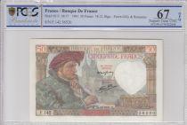Francia 50 Francs Jacques Coeur - 18-12-1941 Serial F.142 - PCGS 67OPQ