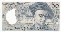 Francia 50 Francs Quentin de la Tour - 1992 - E.74 Last serial scarce