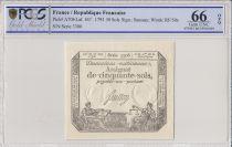 Francia 50 Sols Liberty and Justice (23-05-1793)  - PCGS 66 OPQ