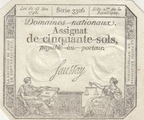 Francia 50 Sols Liberty and Justice (23-05-1793) - Sign. Saussay