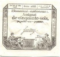 Francia 50 Sols Liberty and Justice (23-05-1793) - Sign. Saussay