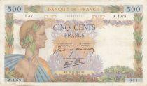 Francia 500 Francs Pax with wreath - 18-12-1941 Serial W.4078