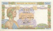 Francia 500 Francs Pax with wreath - 1942