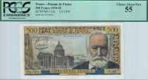 Francia 500 Francs Victor Hugo - 02/09/1954 - PCGS AU58