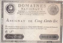 Francia 500 Libras Louis XVI - 29 Sept. 1790 - Serie B