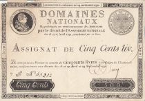 Francia 500 Livres - 16 and 17 April and 29 September - Sign. Desrez - Serial F - Nº 43212