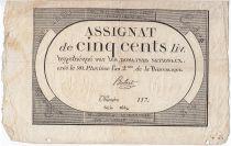 Francia 500 Livres 20 Pluviose An II (8.2.1794)